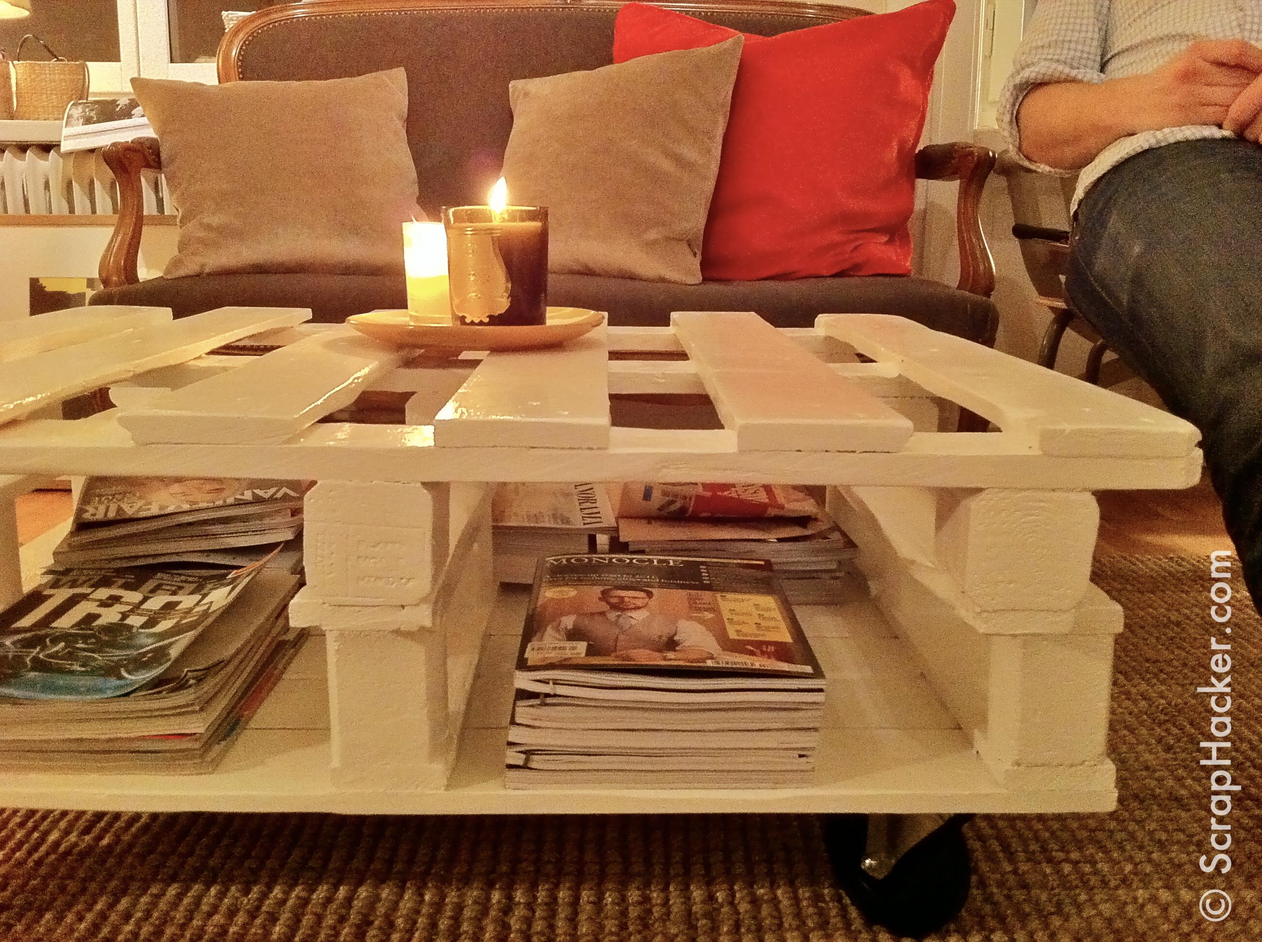 Muebles hechos con palets enconstrucci n for Mesa de palets paso a paso